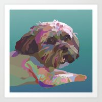 Lucy the Dog Art Print