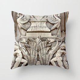 First National Facade Throw Pillow