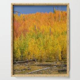 Autumn Colors - North_Rim Grand_Canyon, AZ Serving Tray