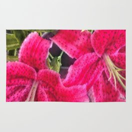 Pink Lilies Rug