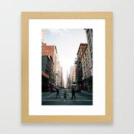 New York Stride Framed Art Print