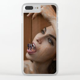 Honey Trap Clear iPhone Case