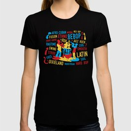 Jazz Trio Modern Art Style T-shirt