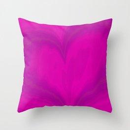 Valentines Day Purple Heart Glitch Pattern Throw Pillow