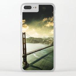 golden gate bridge in san francisco Clear iPhone Case