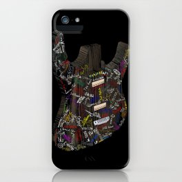 Guitar of fame: Wood version iPhone Case