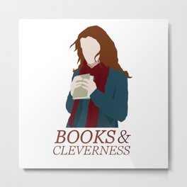 Books & Cleverness Metal Print