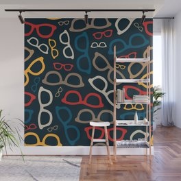 Colorful Smart Glasses Pattern Wall Mural