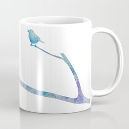 Birds On Branch Watercolor Painting Coffee Mug
