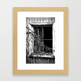 Dark Window Framed Art Print