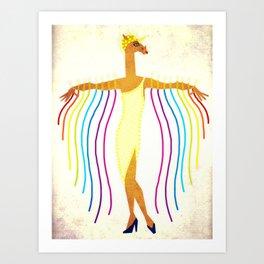 Erte Unicorn Art Print
