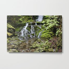 The bottom of the falls Metal Print