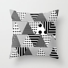 Triangles Patchwork #1 Throw Pillow