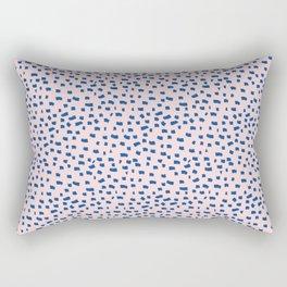 Blue Dash Rectangular Pillow