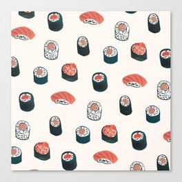 So Much Sushi Canvas Print