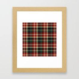 Holiday Plaid 20 Framed Art Print