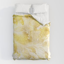 Golden Marble Abstract Comforters