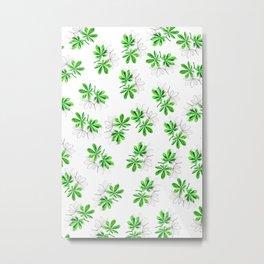 Green summer pattern Metal Print