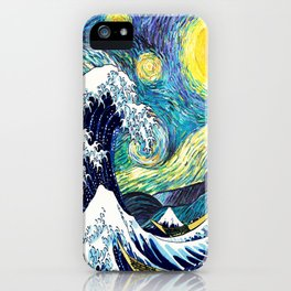 Starry Wave Night iPhone Case