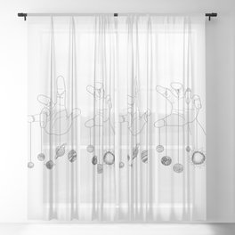 Solar System II Sheer Curtain