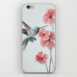 Hummingbird with Hibiscus iPhone Skin