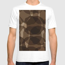 Brown abstract T-shirt