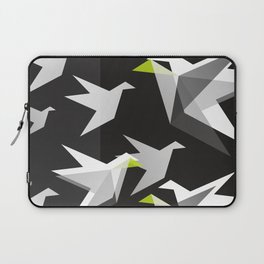 Black and White Paper Cranes Laptop Sleeve