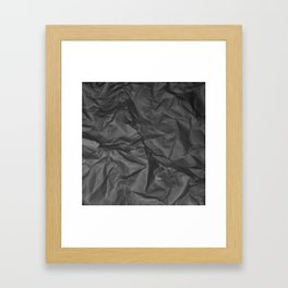 Crumpled Black Paper Framed Art Print