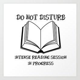 Do Not Disturb (Black on White) Art Print
