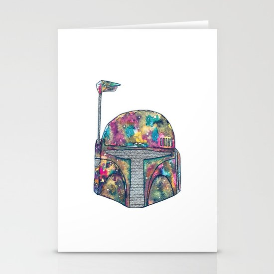 Boba Fett Galaxy Stationery Cards