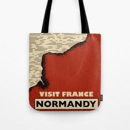 Normandy France Vintage travel print. Tote Bag