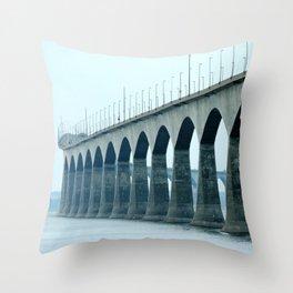 Confederation Bridge Prince Edward Island Throw Pillow