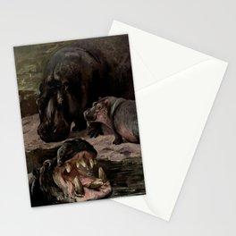 Vintage Hippopotamus Painting (1909) Stationery Cards