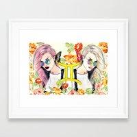 gemini Framed Art Prints featuring Gemini by Sara Eshak
