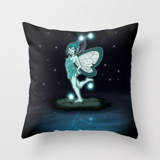 Little Night Fairy   Throw Pillow