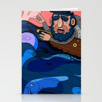 house md Stationery Cards featuring Ahab, MD by Birdcap