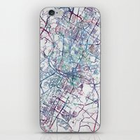austin iPhone & iPod Skins featuring Austin map by MapMapMaps.Watercolors