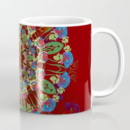 Abstract Rainbow Roses Round Coffee Mug