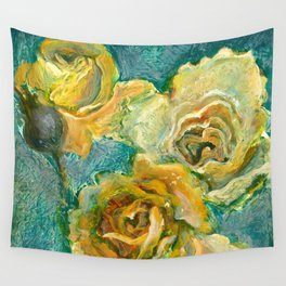 Yellow Roses Wall Tapestry