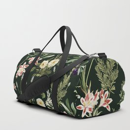 Dark Botanical Garden #society6 #natureart #pattern Duffle Bag
