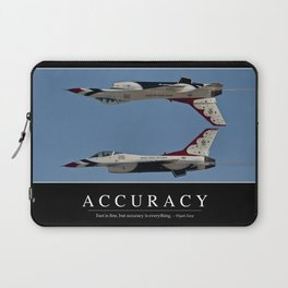 Accuracy: Inspirational Quote and Motivational Poster Laptop Sleeve