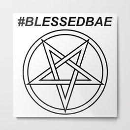 #BLESSEDBAE INVERTED INVERSE Metal Print