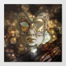 Venetian Golden Beauty Canvas Print