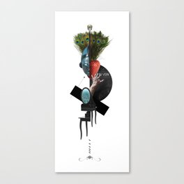 IN VEIN (Totem of the Peacock) Canvas Print