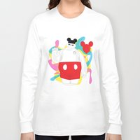 baymax Long Sleeve T-shirts featuring Baymax by The Space Wanderer