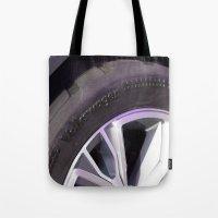 volkswagen Tote Bags featuring Volkswagen Taigun tire by Mauricio Santana
