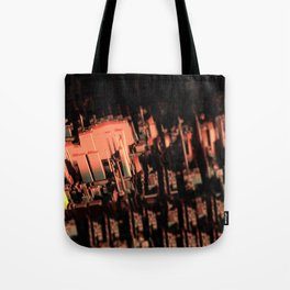 Cityscape technology microchip urban intricate pattern texture geometric background Tote Bag