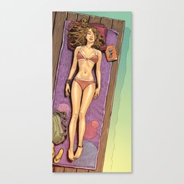 Sunbath Canvas Print