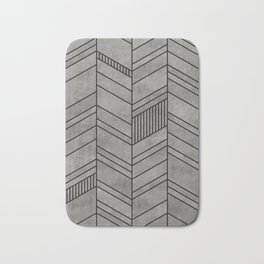 Concrete abstract chevron pattern Bath Mat