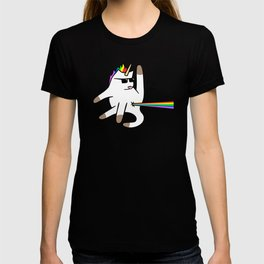 Unicorn Cat Rainbow Butt Laser T-shirt
